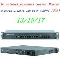 intel core i7 4770 3.5GHZ 8 LAN with 4 SFP 10GB 1U pfsense firewall router Server Firewall PC support ROS Mikrotik Panabit Wayos