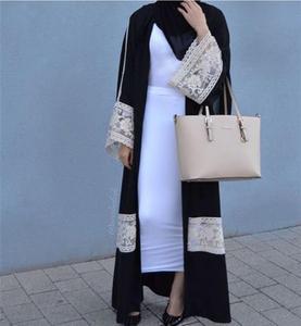 Open Abayas Casual Dresses Long Robe Turkish Dubai Fashion Abaya Muslim Dress Lace Robes Arab Clothing