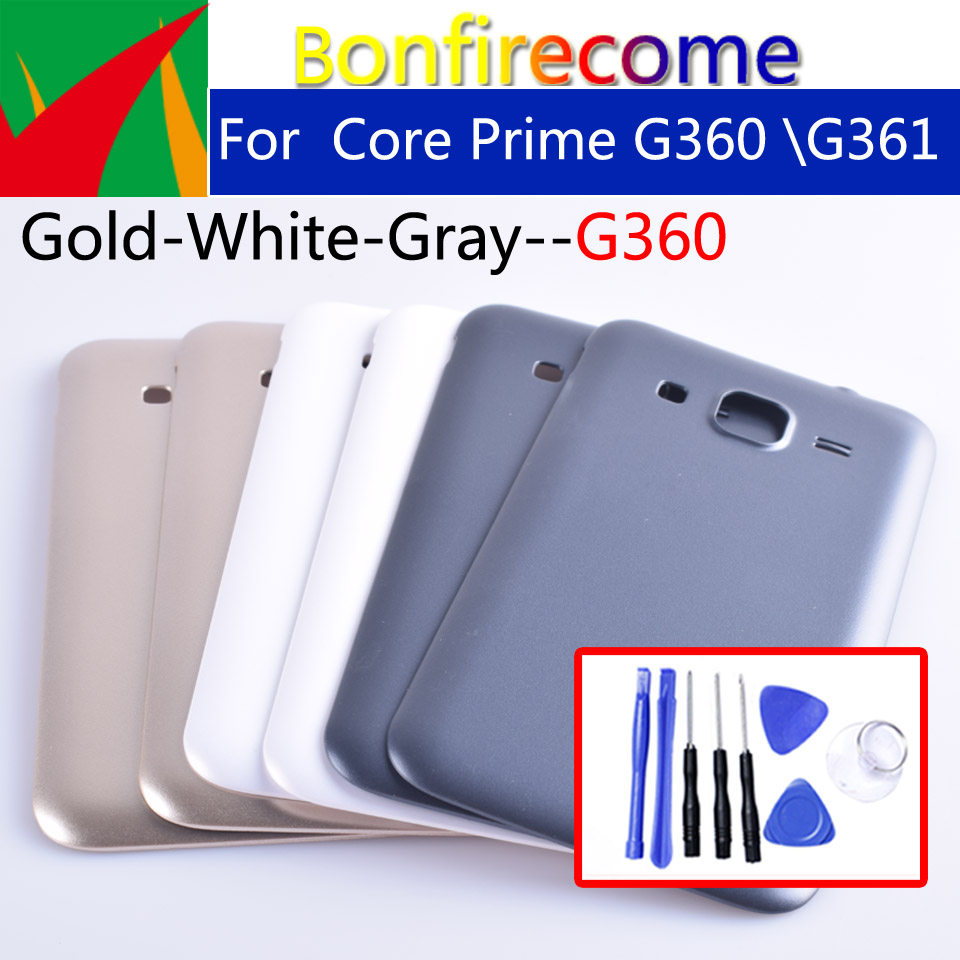 Battery Back Cover For Samsung Core Prime G360 G360H G3608 G361 G361H G361F Rear Housing Battery Door Case Chassis Shell