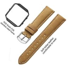 Кожаный ремешок iStrap, совместимые Смарт-часы Fitbit Blaze, сменный ремешок из натуральной телячьей кожи с металлической рамкой