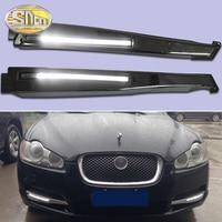 2PCS LED Daytime Running Light For Jaguar XF 2008 2009 2010 2011 2012 Car Accessories Waterproof 12V DRL Fog Lamp Decoration