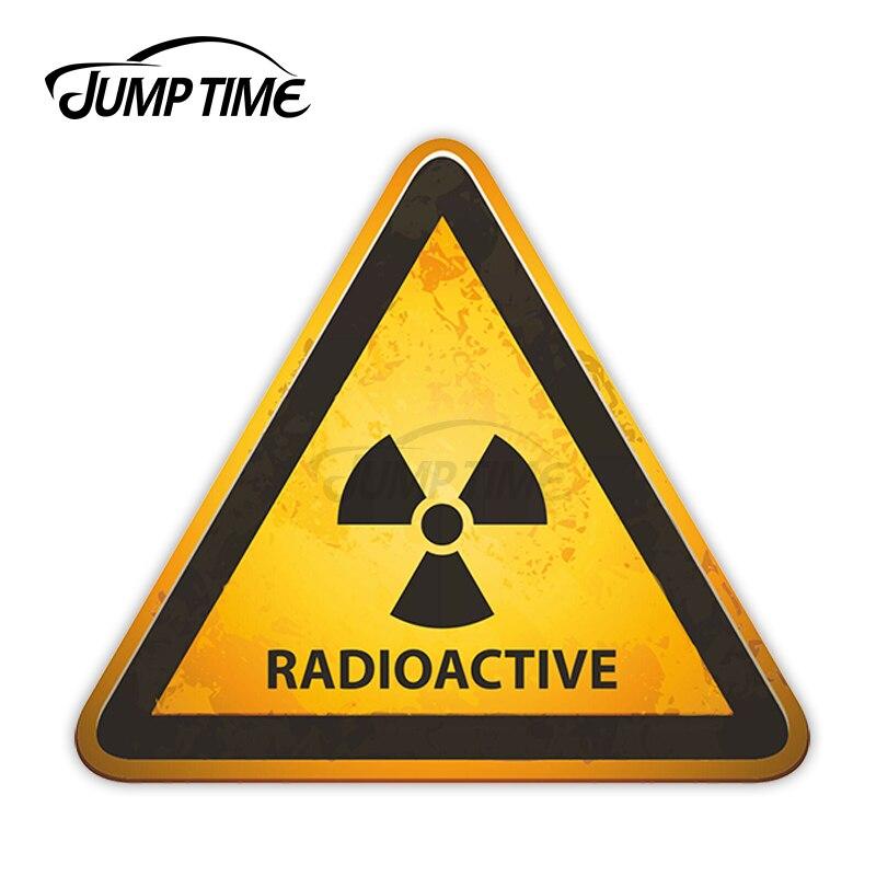 Прыгать время радиоактивных Предупреждение винил Стикеры s излучения науки Стикеры JDM наклейка автомобиля Обёрточная бумага бампер багажн...