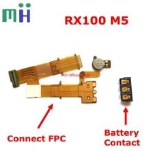 สำหรับ Sony RX100M5 RX100 M5 DSC RX100 V แบตเตอรี่ Contact FPC เชื่อมต่อ Flex ASSY กล้องอะไหล่ทดแทน