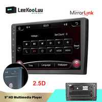 LeeKooLuu 2 Din Car Multimedia Player 9 MirrorLink Car Radio Bluetooth 2.5D Stereo Mp5 Player FM /AUX/SD/Usb Auto Radio Camera