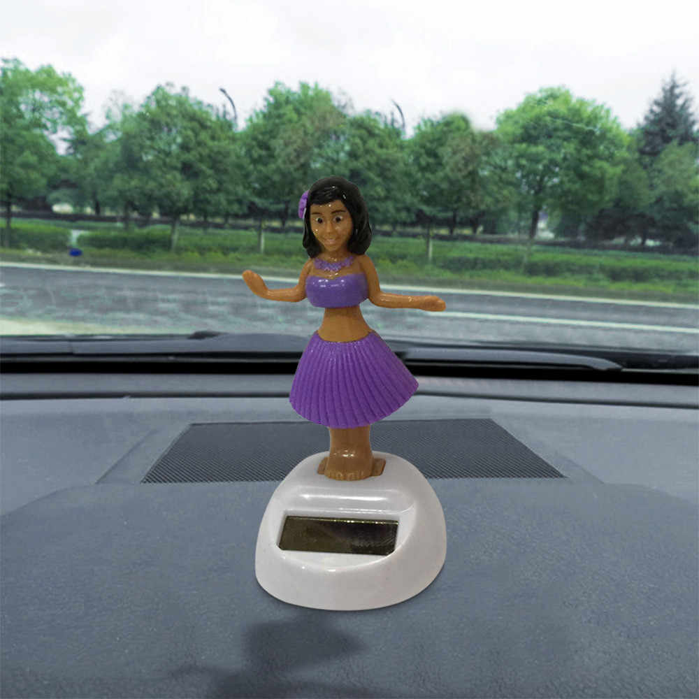 car ornament Hawaii Girl Car Solar Powered Dancing Animal Swinging Animated Bobble Dancer Car car accessories interior