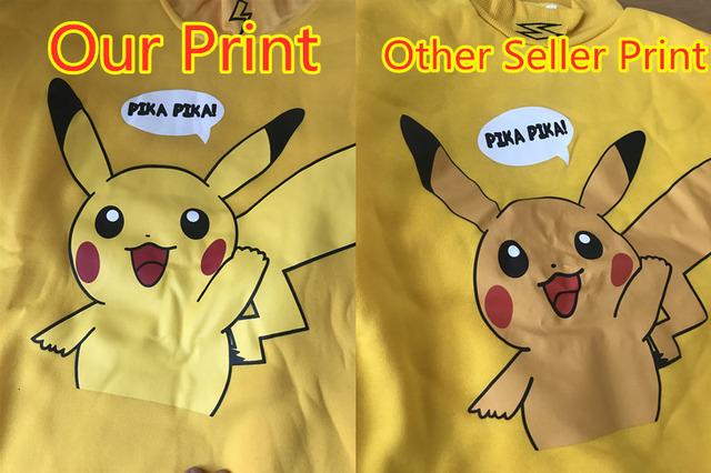 Pikachu Pokemon Turtleneck Pullover & T-shirt