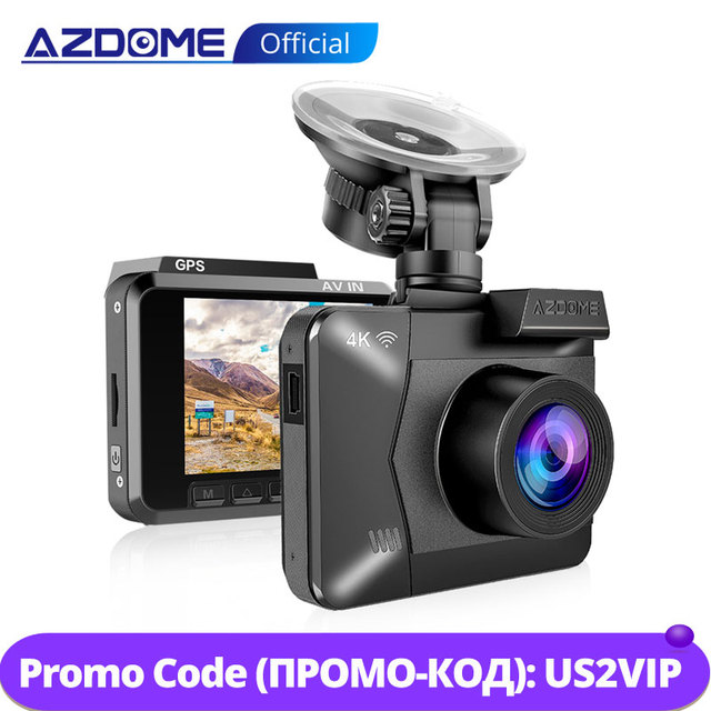 AZDOME M06 WiFi GPSในตัวDual FHD 1080P + VGAด้านหลังกล้องรถDVRเครื่องบันทึก 4K Dash Cam Dashcam WDR Night Vision