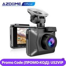 Azdome M06 wifi内蔵gpsデュアルレンズfhd 1080 1080pフロント + vgaリアカメラ車dvrレコーダー 4 18kダッシュカムdashcam wdrナイトビジョン