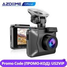 Azdomm06 واي فاي بنيت في نظام تحديد المواقع عدسة مزدوجة FHD 1080P الجبهة + VGA كاميرا خلفية مسجل سيارة DVR 4K داش كام داشكام WDR للرؤية الليلية