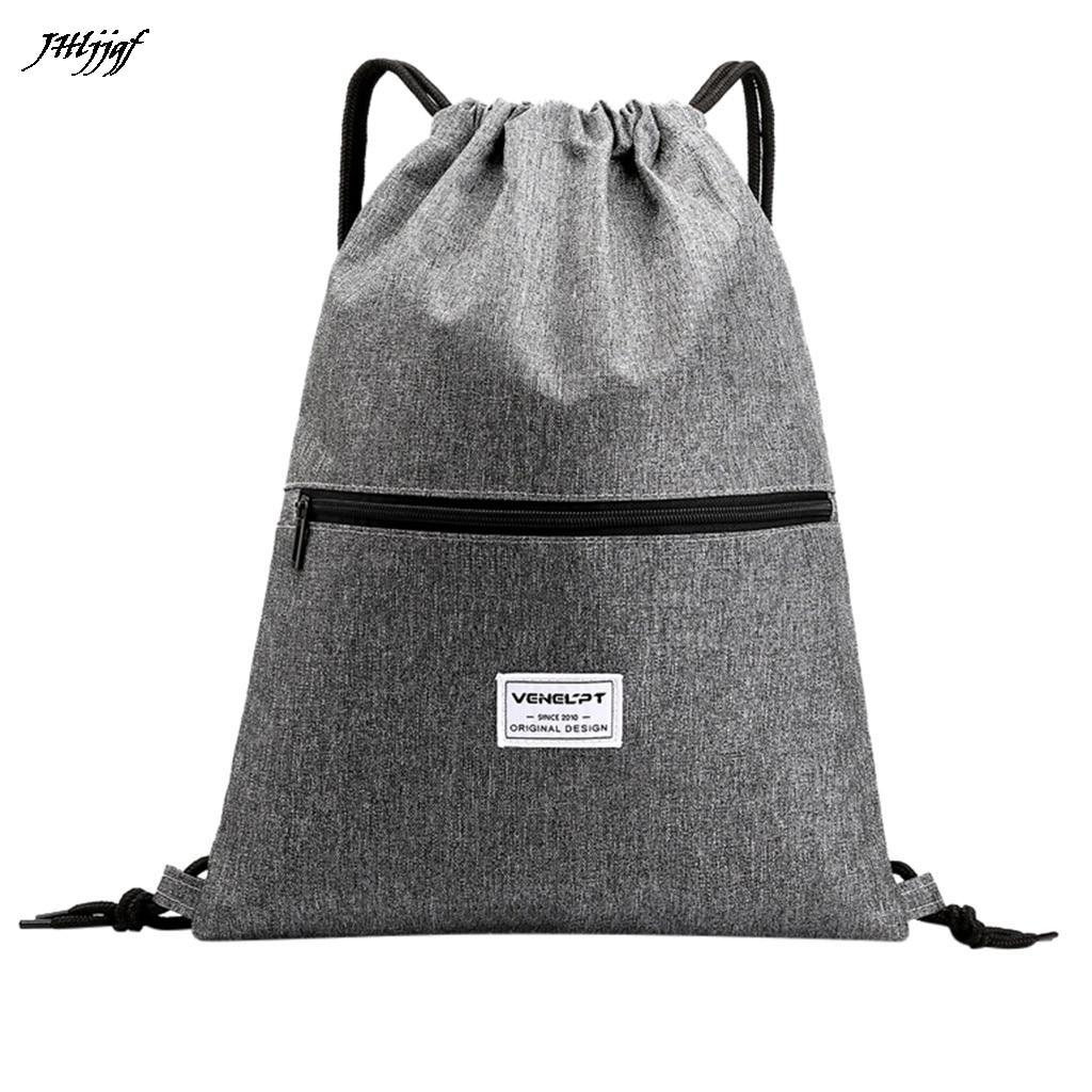 Fashion Unisex Oxford Drawstring Bags Waterproof Zipper Backpacks Backpack Sport Travel Outdoor Backpack School Bags