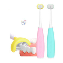 Intelligent Acoustic Wave Children Electric Toothbrush 3D Tooth Brush Heads Electric Teeth Brush Or Replacement Brush Heads Kids