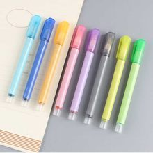 8 Color Double Line School Highlighter Stationery Smooth Card Writing Marker Pen Student Outline Office Home Portable Drawing(China)