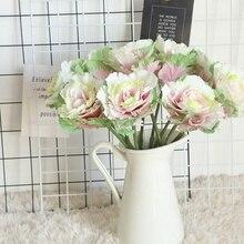 Artificial Silk Flower Simulation Olive Dish Cabbage Home Desktop Decor DIY Wedding Party Decoration Supplies 1pcs