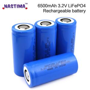 Nastima Lifepo4 32650 32700 Rechargeable Battery 3.2V 6500mAh With Flat Top For Backup Power flashlight Light car 32650 battery