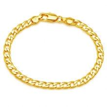 Jóias XP -- (19 cm x 5mm) 1:1 24 k Amarelo Cor de Ouro Figaro Pulseiras Para Mulheres Dos Homens Jóia Da Forma