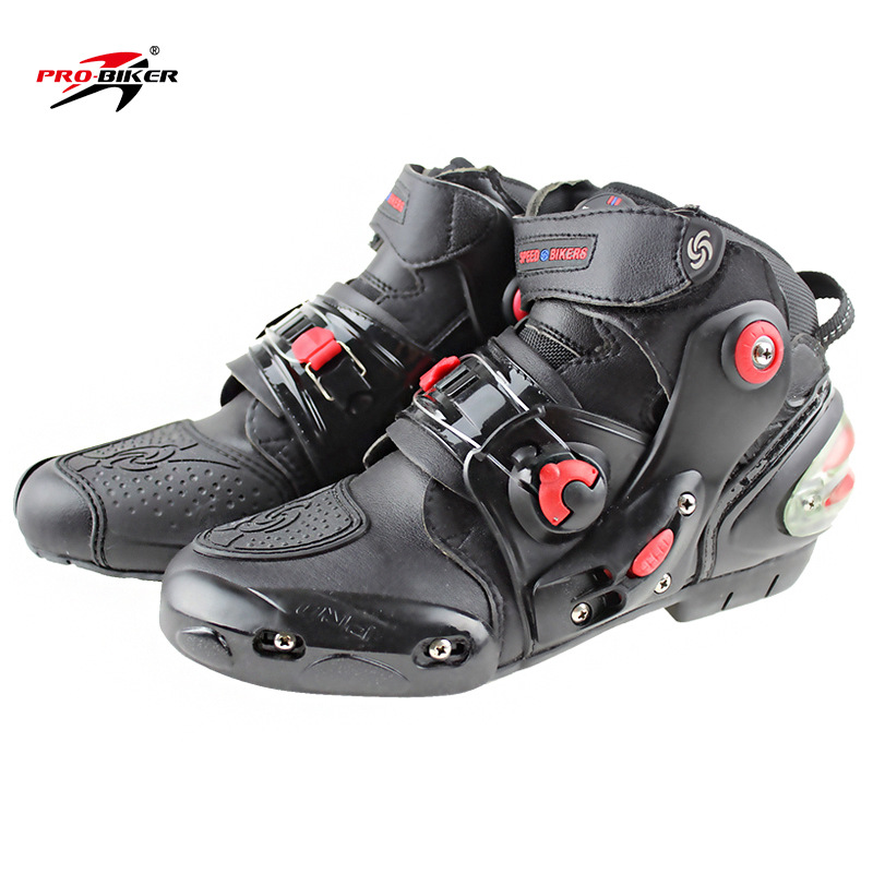 Genuine Product Short Speed Bikers 9001-Racing Boots/ji Che Xie/Motorcycle Boots/Racing Boots