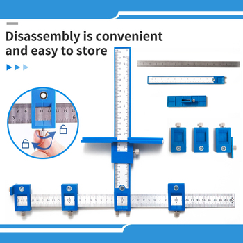 Cabinet Hardware Jig Drill Guide Set Wood Drilling Tools Woodworking hand tool Drawer Knob Pull Templates