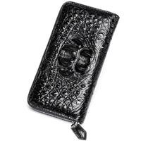High quality Crocodile luxury brand Wallet leather fashion men's designer Long Zip card pocket bag purses Billeteras delgada Hot