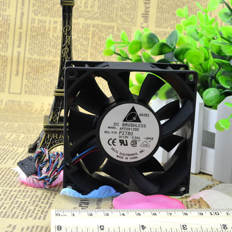 AFC0912DE Original Delta 9038 12V 0.5A 2.5A 4-Wire Double Ball 9CM Violent Fan