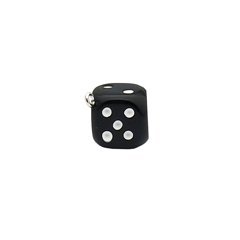 10pcs/pack 15mm Dice Resin Charms 3D Dice Pendants DIY Craft Fit for Bracelet Earring Key Chains Jewelry DIY Finding Handmade 6
