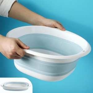 Wash-Basin Sink Foot-Bucket Folding Plastic Portable Camp Travel Outdoor Household