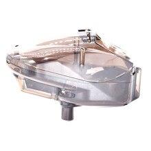 0.68 paintball eletrônico velocidade carregador motorizado automático roda 180 rodadas capacidade transparente marrom
