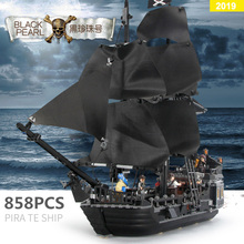 Pirates Of The Caribbean The Black Pearl Building Block Bricks ship With figures Toys For Kids  movie 4184 building blocks ghost zombie shark jack sparrow pirates of the caribbean figures bricks kids legoings diy toys hobbies pg1008