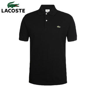 Polo-Shirt Short-Sleeve Knitted Sport Plus-Size Contrast-Color Men Breathable Tee Neck-Top