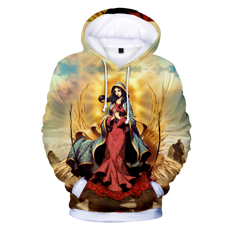Novelty 3D Our Lady Of Guadalupe Hooded Novelty 3D Printed  Men/women Long Sleeve Hoodies Sweatshirts Casual Plus Size Outwear