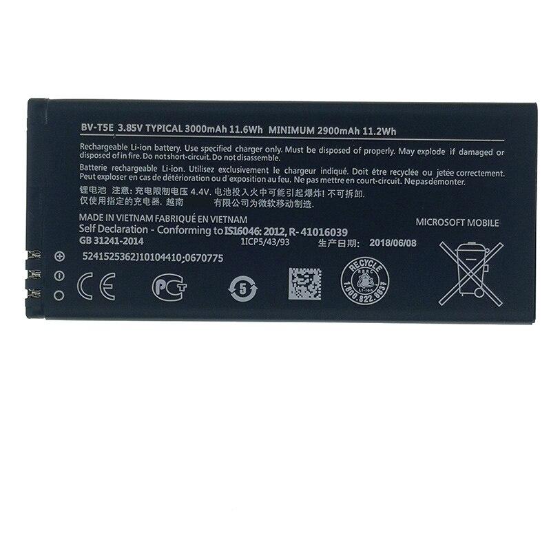 100% Original BV-T5E 3000mAh Battery For Nokia Lumia 950 RM-1104 RM-1106 RM-110 McLa BVT5E New produce High quality battery(China)