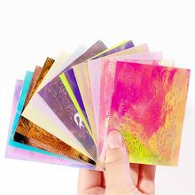 16 Styles Holographic Fire Flame Hollow Stickers Thin Laser Silver Stripe DIY Manicure Woman Nail Art Decoration Accessories(China)