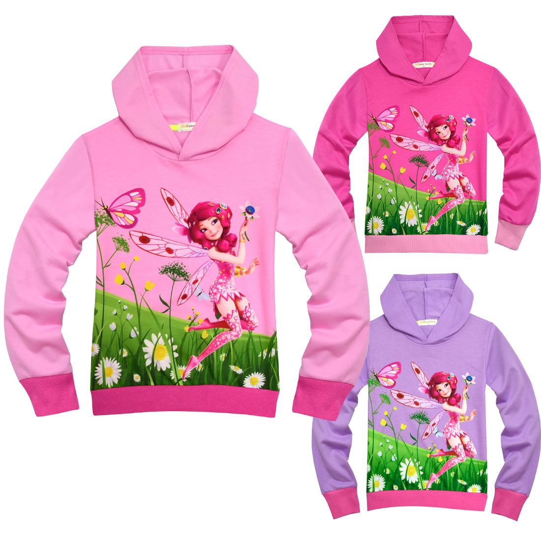 Kids Girls Halloween Costume YoKu Mia and Me Cosplay Hoodie Top Sweatshirt Anime Cartoon Comics Children Cosplay Disfraces