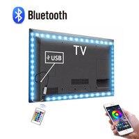 1/2/3/4/5 M LED TV USB licht 5V Bluetooth RGB Buch Licht mit 24 schlüssel IR-Fernbedienung und APP control Für TV hintergrund dekor Beleuchtung