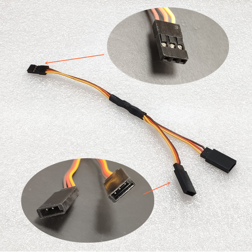 """5PCS 300mm 12/"""" Y Style Servo Extension Cord Lead Wire Cable JR Futaba 30CM 26AWG"""