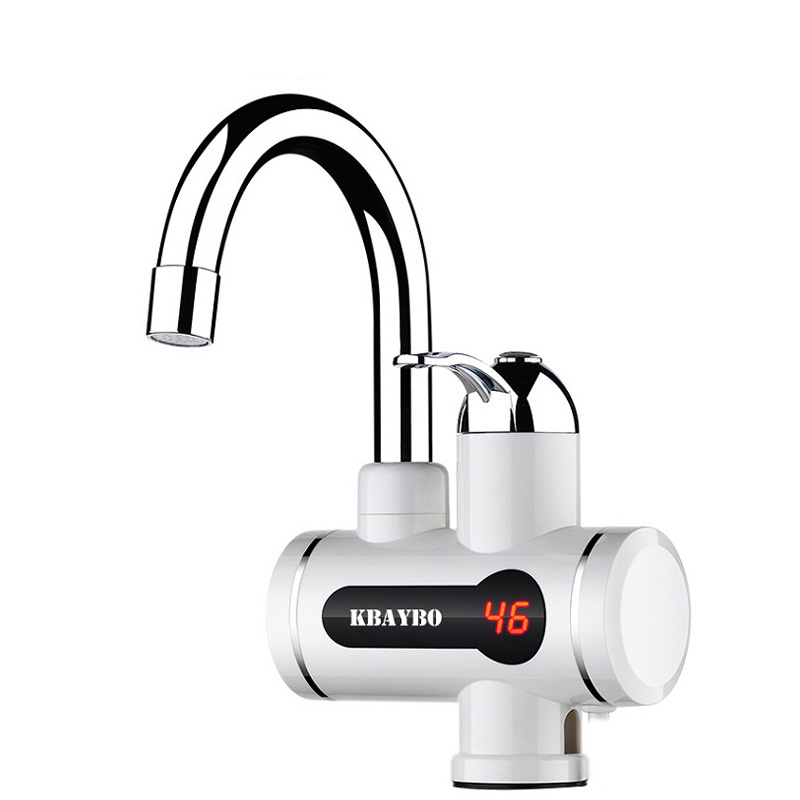 NEW Fashion Instant Water Heater LCD Temperature Display Tankless Water Heater Tap Instant Hot Water Faucet Crane 3000W