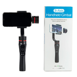 H2 3 Axis USB Charging Video Record Support Universal Adjustable Direction Handheld Gimbal Smartphone Stabilizer Vlog Live