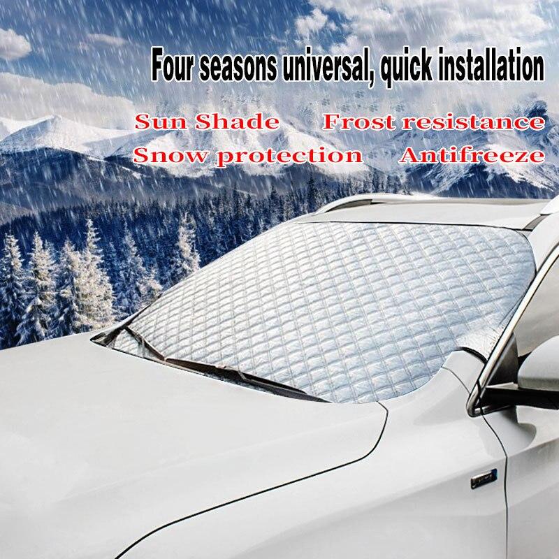سيارة يغطي حاجب زجاجي للسيارة غطاء مكافحة الثلوج الصقيع الجليد الزجاج الأمامي الغبار حامي الحرارة الشمس الظل الجليد كبير الثلوج الغبار حامي