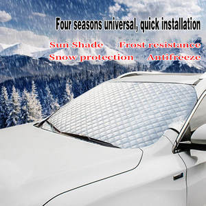 Honda or Automobile with 58x 46 Fukang Car Windshield Snow Cover with Mirror Covers Truck SUV Extra Large Frost Guard Protector Fits Most Car Magnetic Waterproof Windshield Winter Cover Van