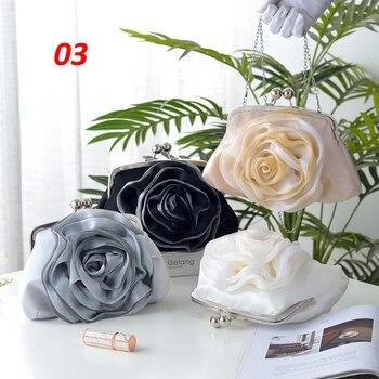 Vintage Ladies Floral Evening Bag  5