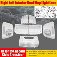 цена на 2pcs Right Left Interior Roof Map Light Lens for Honda TSX Accord Civic Crosstour 34402-SDA-A01 34401-SDA-A01 34401-SDE-T01