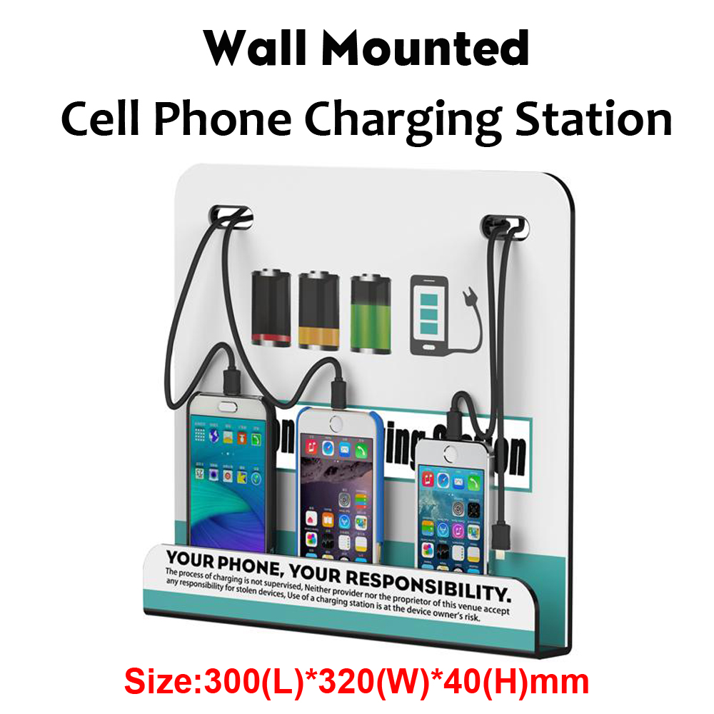 Vipatey Wall Mounted Cell Phone Charging Station Multi Device With 4 Ports Docking Station For Iphone And Android Cell Phone Mobile Phone Chargers Aliexpress