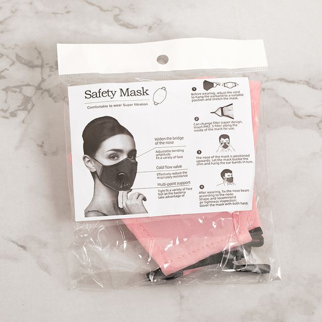 New Anti Pollution PM2.5 Mask Dust Respirator Washable Reusable Masks Cotton Unisex Mouth Muffle Allergy/Asthma/Travel/ Cycling 3