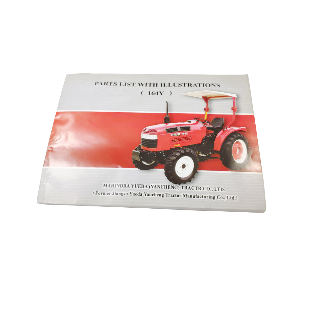 Tractor Spare Parts Catalog /  Operational Manual For Tractor JM164Y/495A