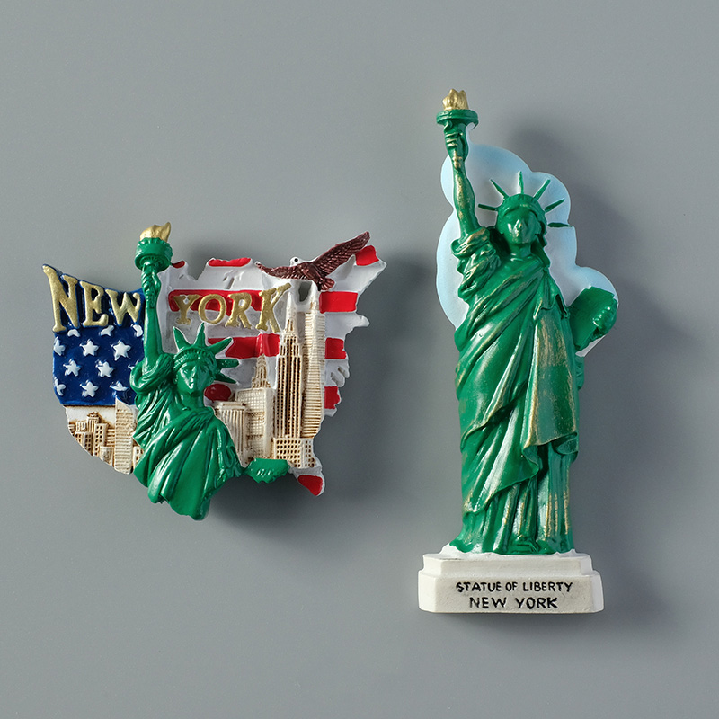 Tourist souvenirs America statue of liberty USA flag New York 3d refrigerator fridge magnets collection gifts home decoration image