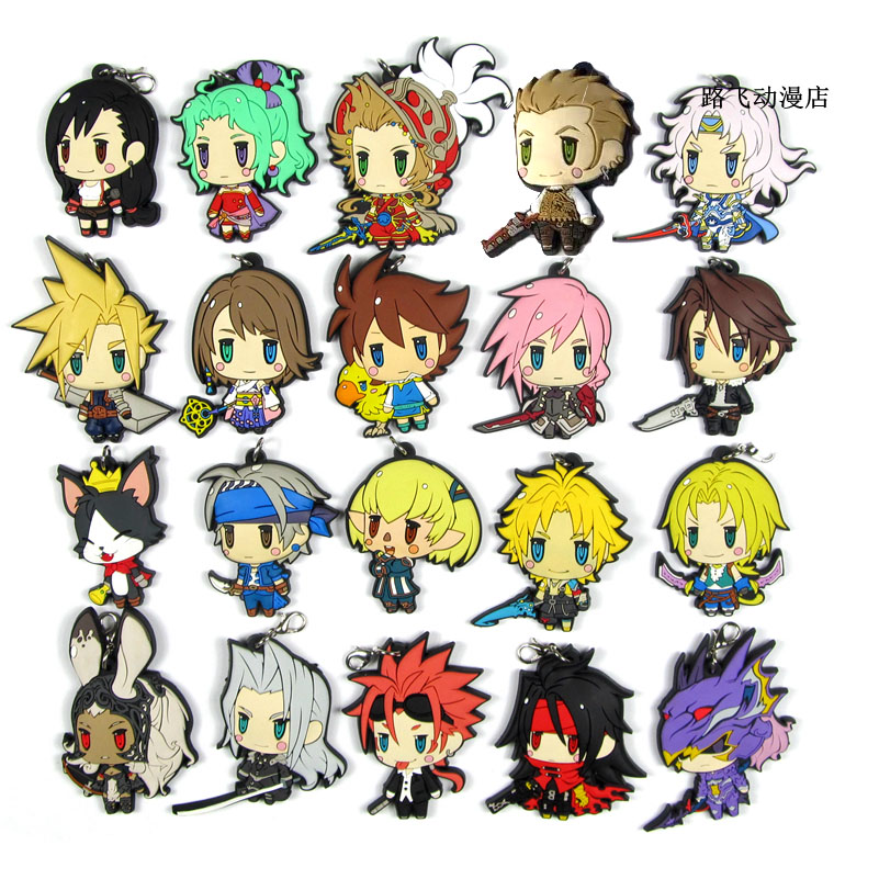 2020 Новое поступление Final Fantasy оригинальный японский аниме Рисунок резиновый брелок-подвеска для мобильного телефона с ремешком