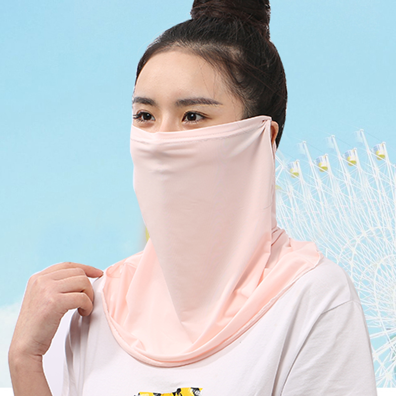 Summer Female Neck Protector Neck Sunshade Sunscreen Dustproof Mask Light And Cool Breathable Ice Silk Mask