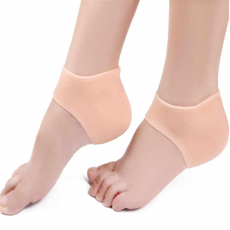 10 cm * 9 cm (3.93*3.54 pouce) 2 couleurs Silicone hydratant Gel talon Inserts pour les femmes 1 paire