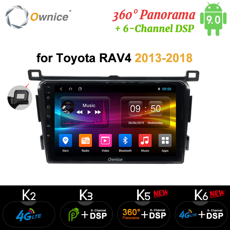 Ownice k3 k5 k6 4G+64G DSP 2 Din Android 9.0 car dvd player GPS for <font><b>Toyota</b></font> <font><b>RAV4</b></font> <font><b>Rav</b></font> <font><b>4</b></font> 2013 <font><b>2014</b></font> <font><b>2015</b></font> <font><b>2016</b></font> <font><b>2017</b></font> 2018 4G Car Radio image