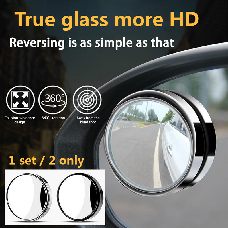 360-degree wide-angle adjustable circular rotating rear-view auxiliary blind spot mirror auto replacement parts car accessories