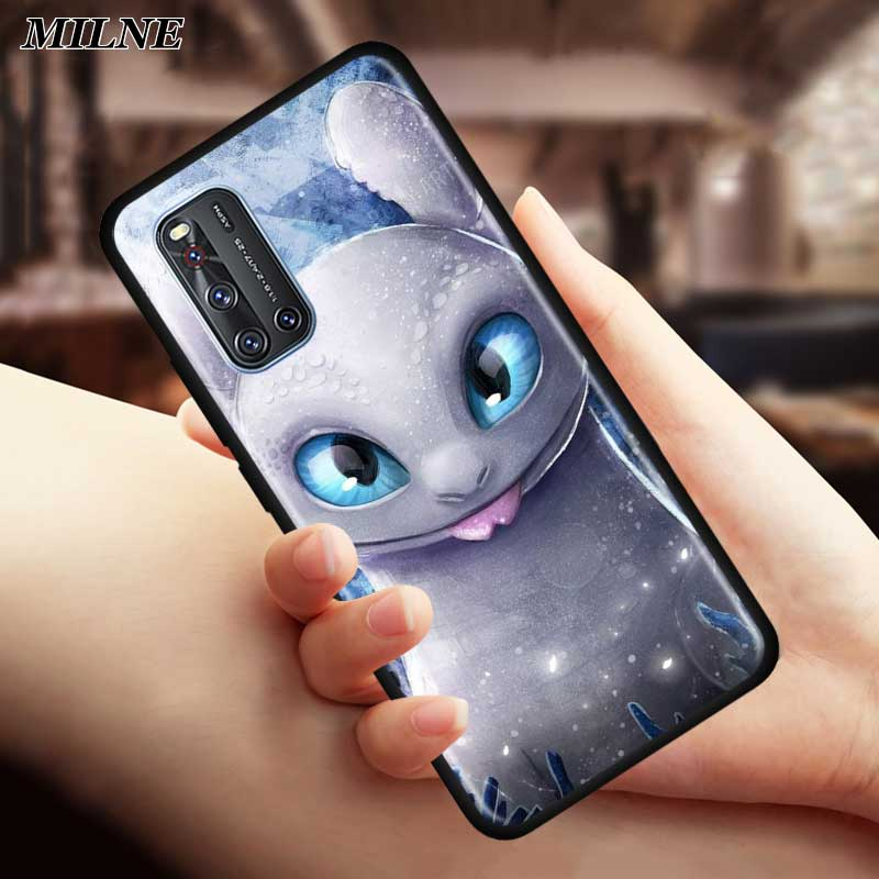 Toothless Your Dragon Silicone Phone Case For Vivo S1 Pro Y12 Y15 Pro Y17 Y19 Z6 5G Y30 Y50 V19 Iqoo 3 5G Z1 Soft Back Cover